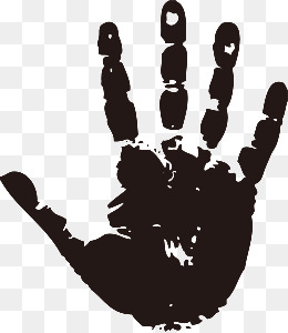 Handprint Png Black And White Free Handprint Black And