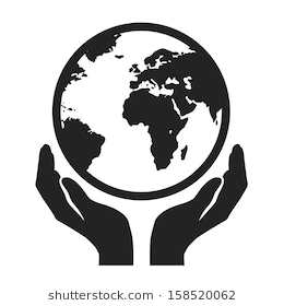 Earth In Hands Png - hands holding globe earth web black icon. save earth concept vector  illustration