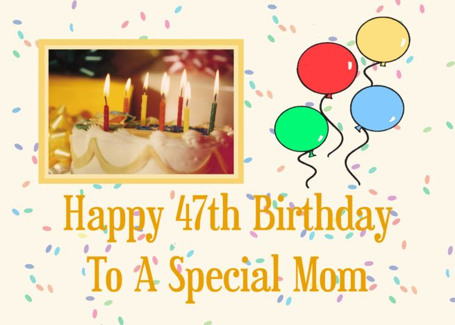 Happy 47th Birthday - Happy 47th Birthday To A Special Mom card #Ad , #Affiliate ...