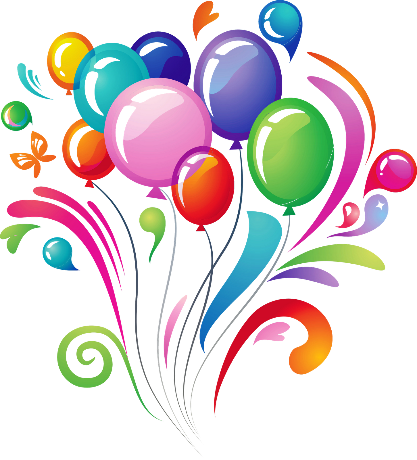 Happy Birthday Ballons Png - Happy Birthday Balloons PNG Photo   PNG All