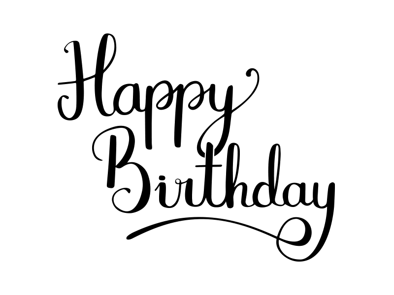 Happy 28th Birthday Png - Happy Birthday Calligraphy PNG Transparent Image | PNG Mart