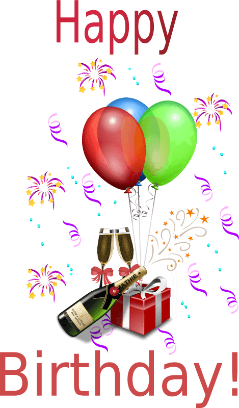 Happy Birthday Daughter Png - Happy Birthday Daughter In Law Clipart - Happy Birthday Wine And ...