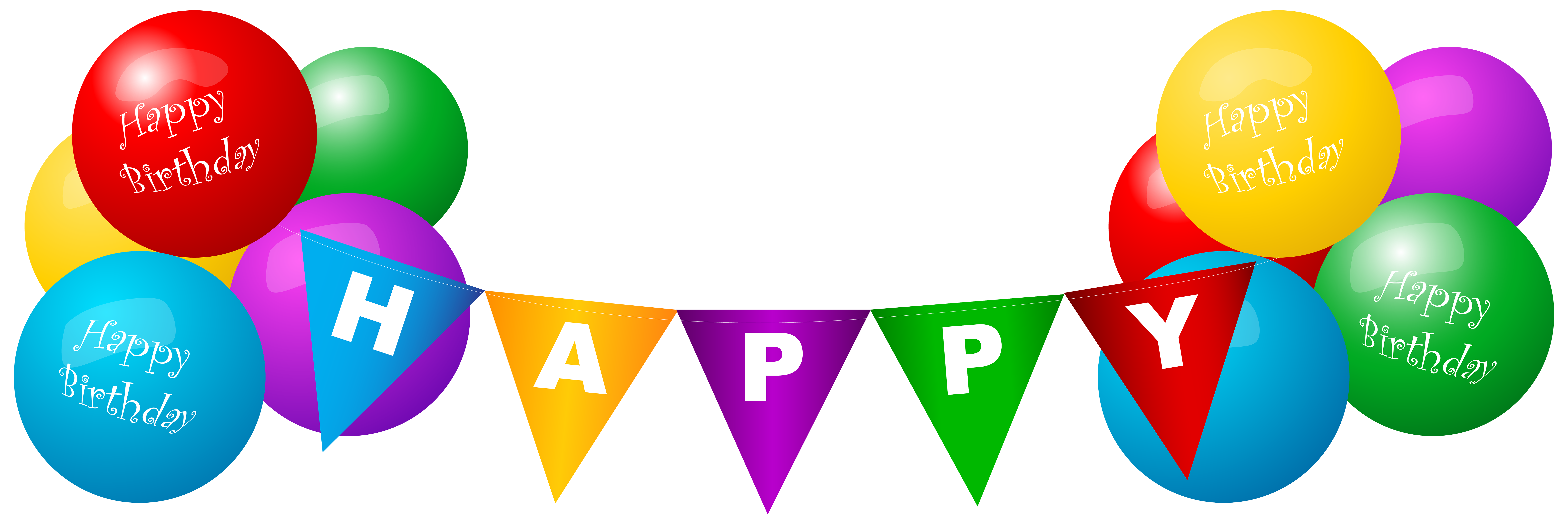 Happy Birthday Ballons Png - Happy Birthday Deco Balloons PNG Clip Art Image   Gallery ...