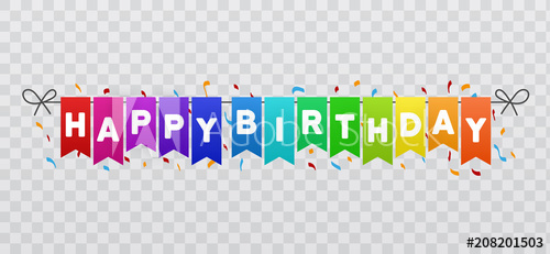 Happy Birthday Flags Banner Transparent 881857 Png Images Pngio