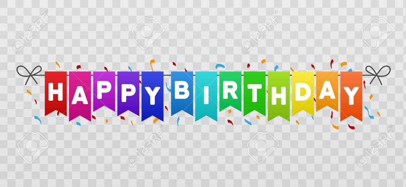 Happy Birthday Flags Banner Transparent 881848 Png Images Pngio