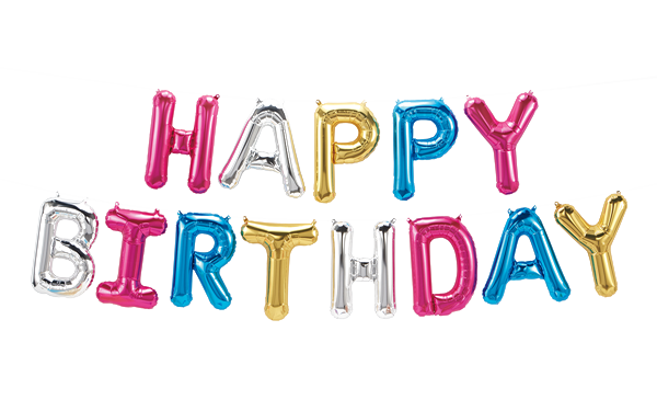 Happy Birthday Ballons Png - Happy Birthday Foil Balloon PNG Image   PNG All