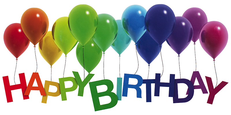 Happy Birthday Balloons Png - Happy Birthday Rainbow Balloons by Lilyas ...