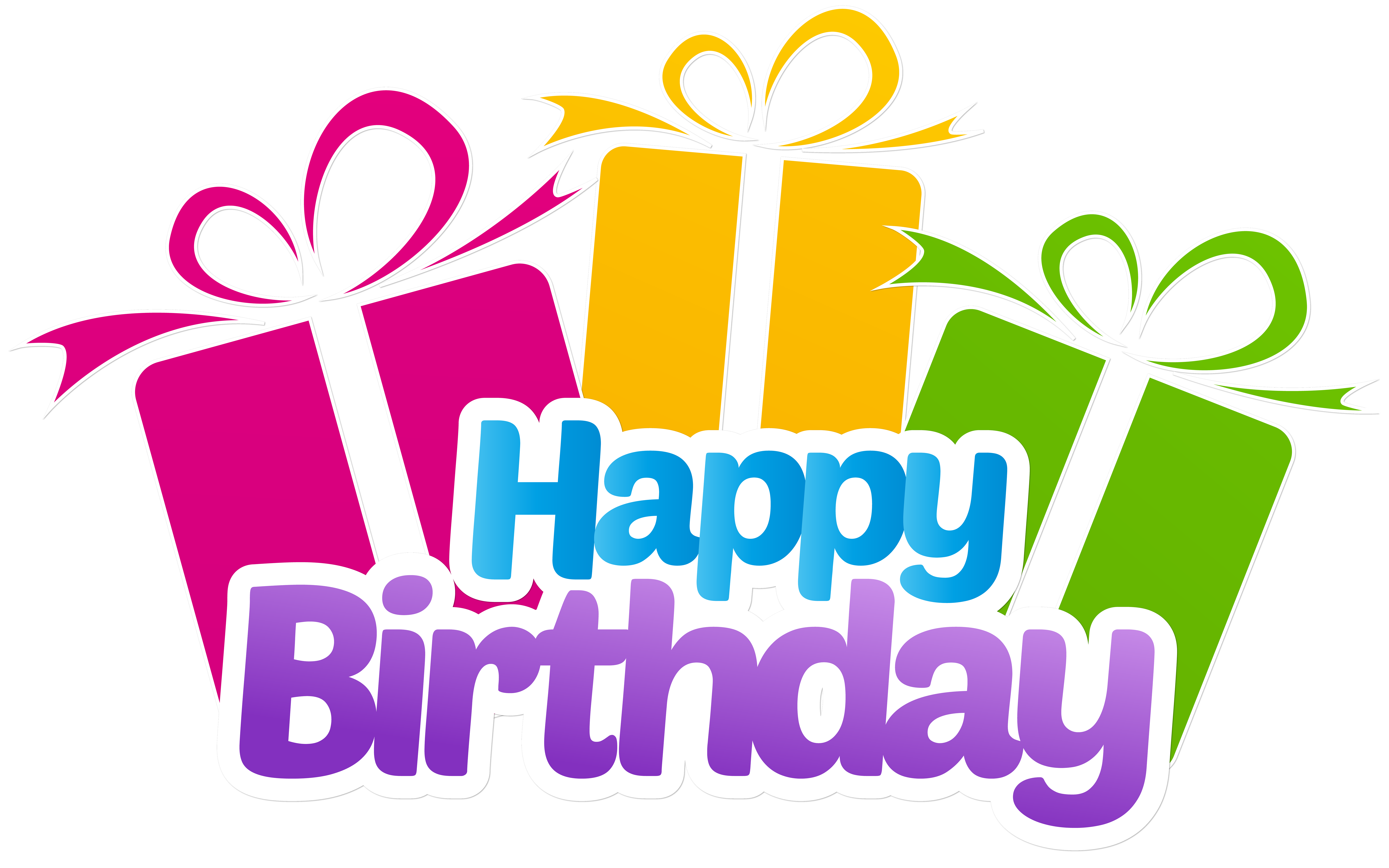 Birthday Png Images - Happy Birthday with Gifts PNG Clip Art Image | Gallery ...