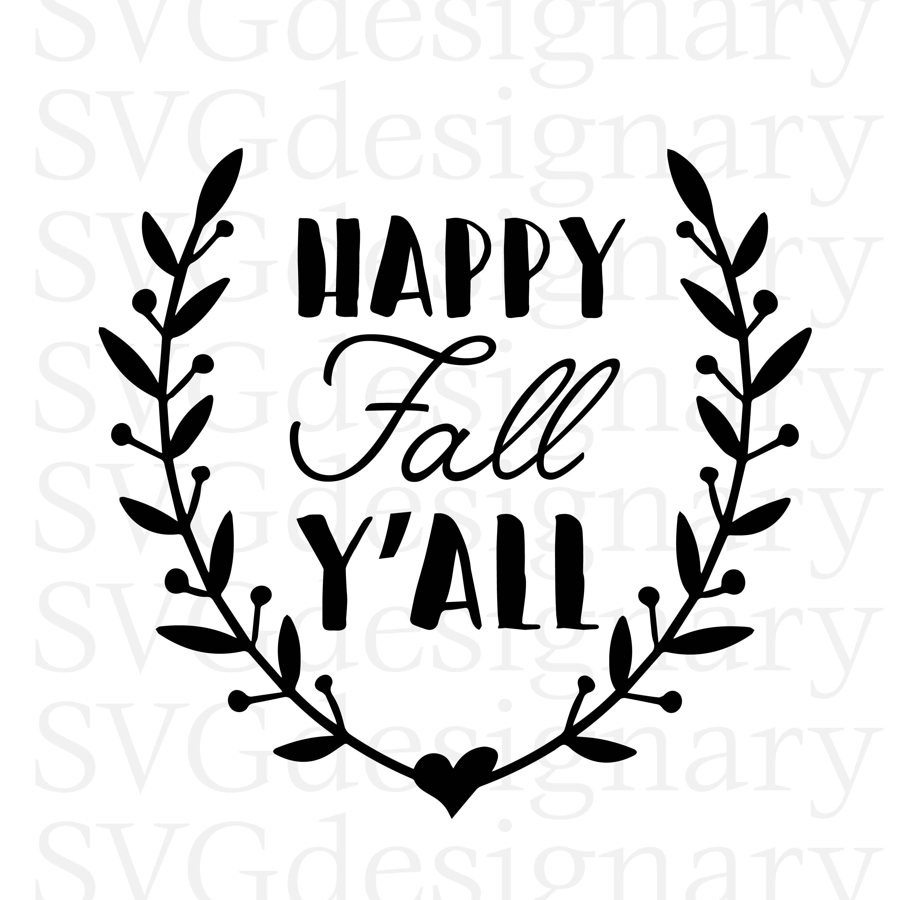 Happy Fall Y All Svg Png Digital Downloa 157031 Png Images Pngio