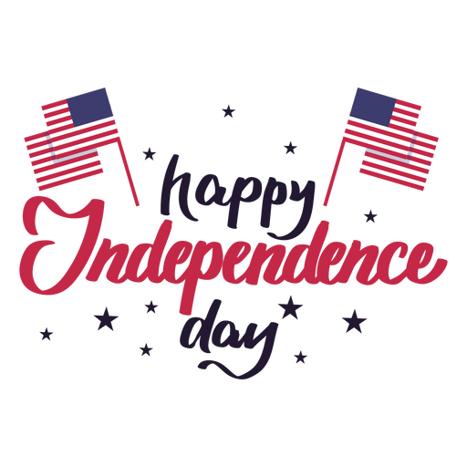 American Independence Day Png - Happy independence day flag star usa sticker - Transparent PNG ...