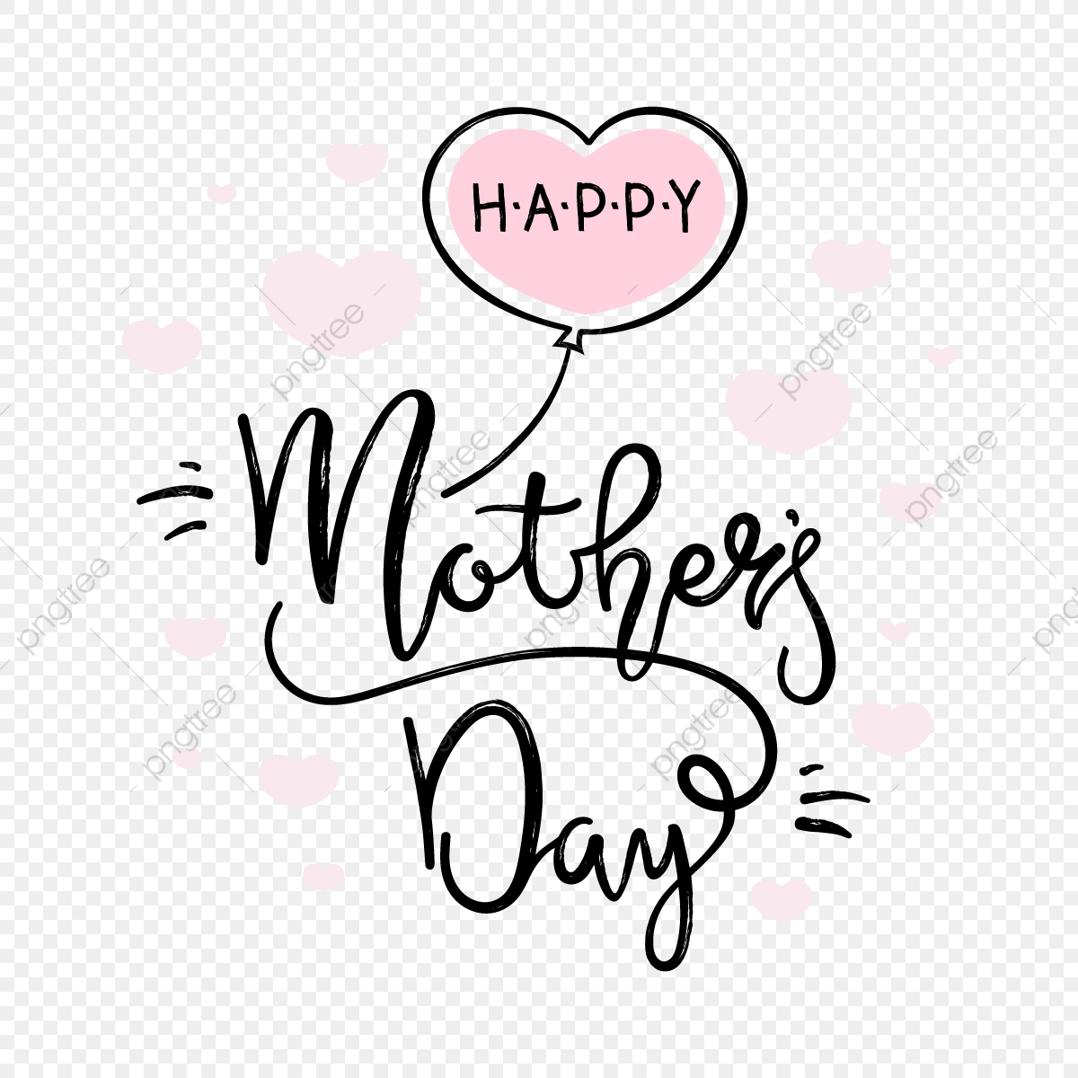 Mothers Day Greetings Png - Happy Mothers Day Card, Mothers Day Clipart, Typography, Mom PNG ...