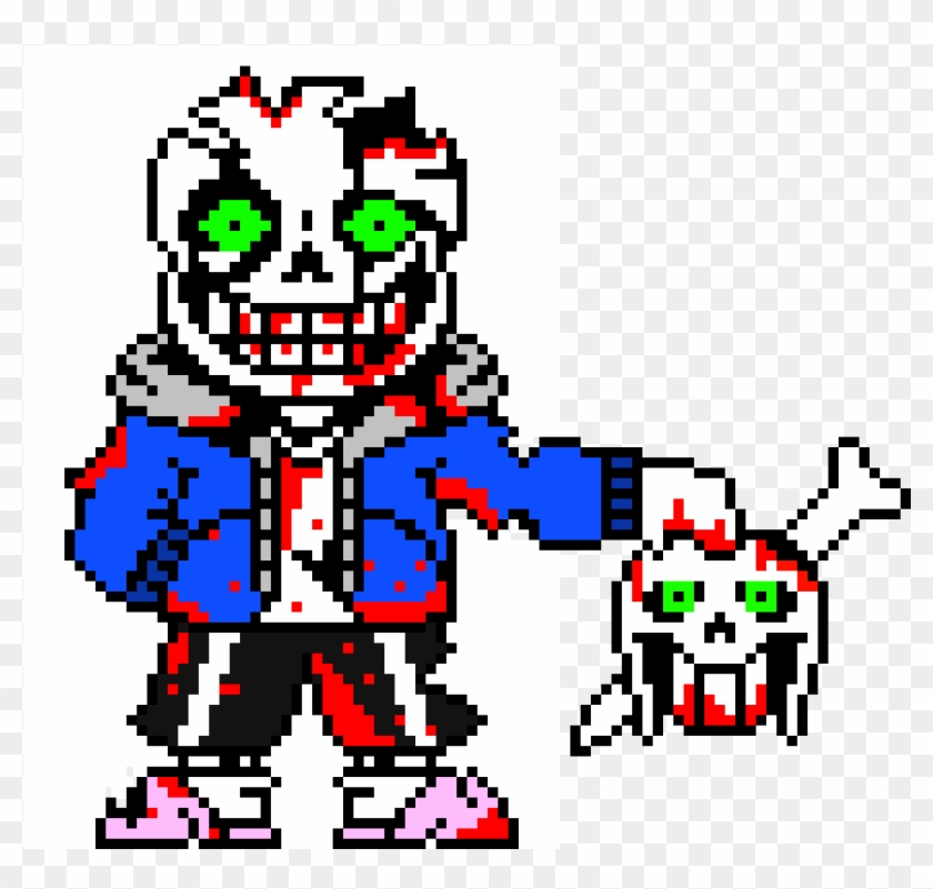 Hard Mode Insane Sans Pixel Art Maker 1028926 Png Images Pngio
