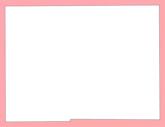 "Plain Pink Png - Hardee ""Plain Frame"" Style Maps in 30 Colors"