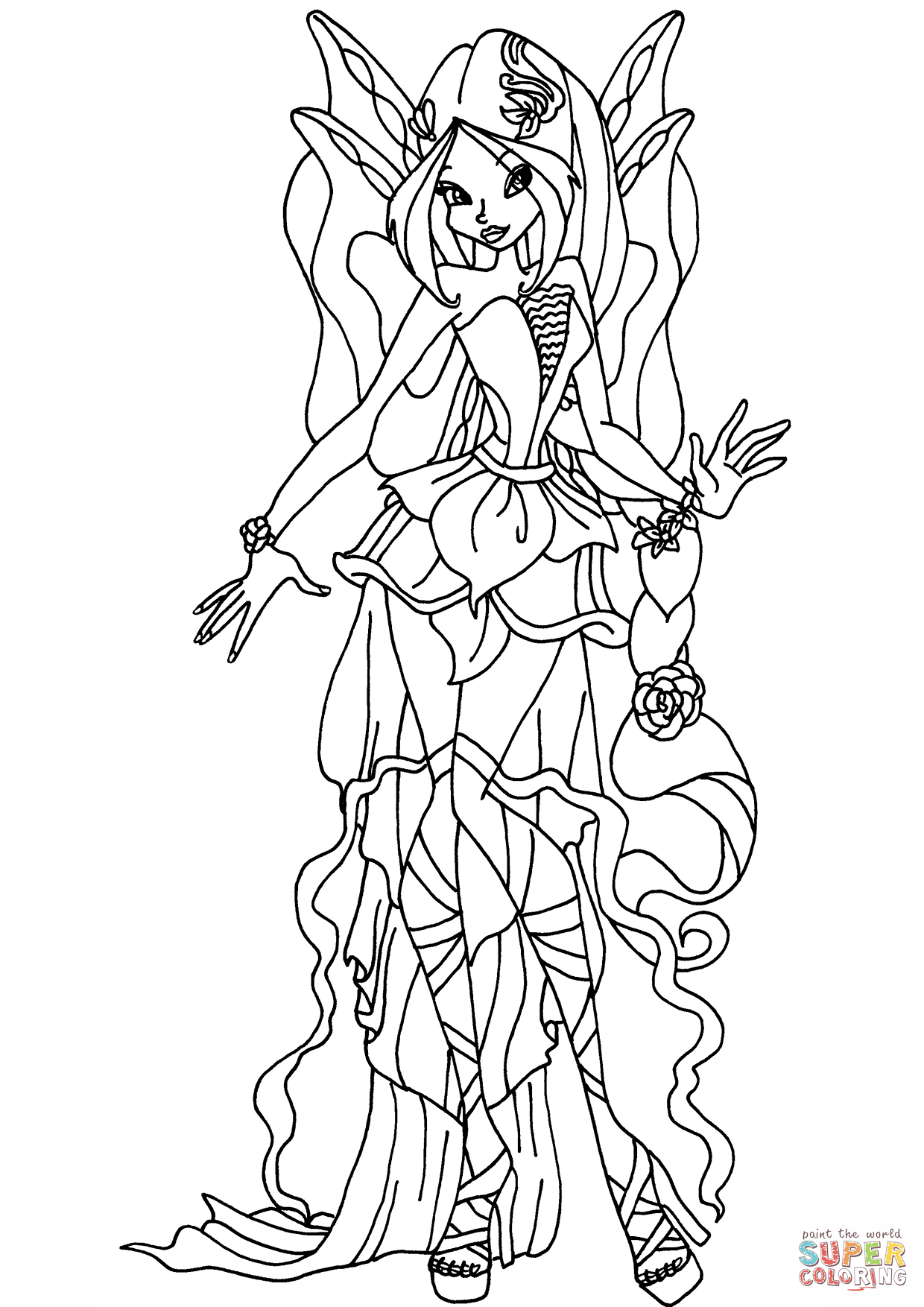 winx club sophix coloring pages - winx club aisha sophix coloring ... | 1754x1240