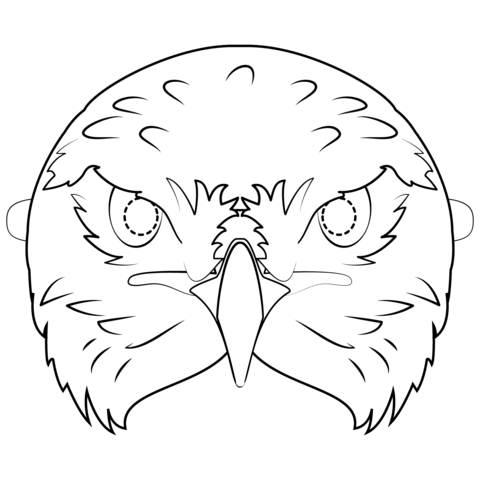Mardi Gras Mask Coloring Pages - GetColoringPages.com | 480x480