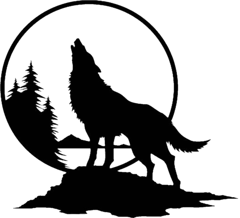 Wolf Howling At The Moon Png & Free Wolf Howling At The ...