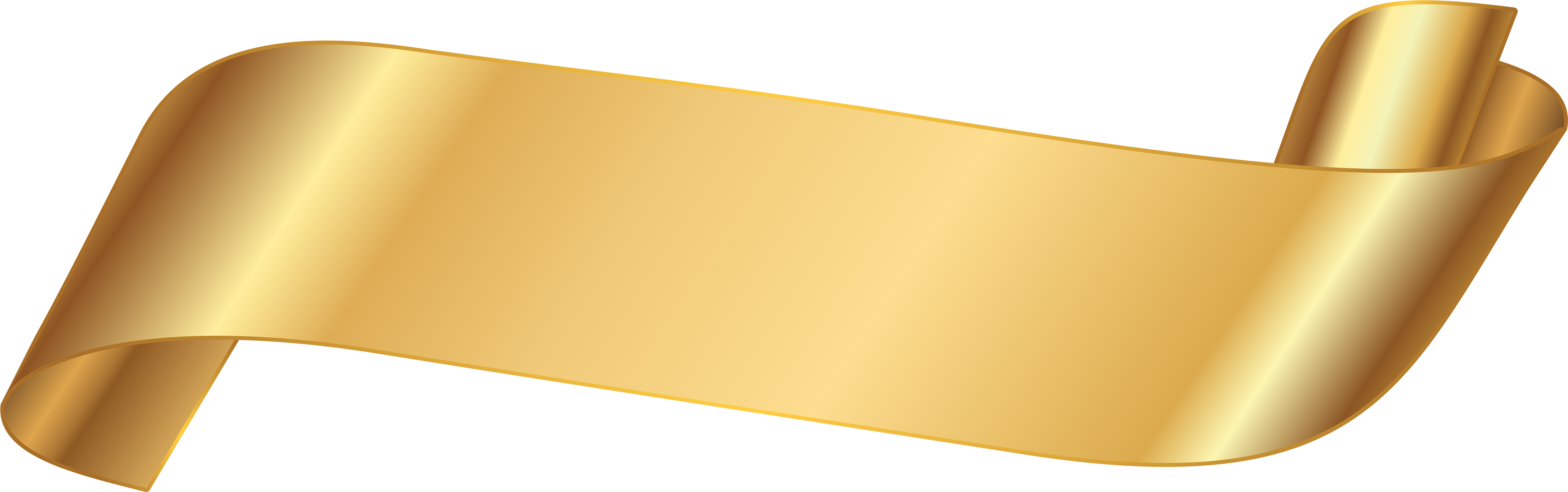 Black And Gold Hd Png - HD Gold Ribbon Banner Png , Png Download - Gold Ribbon Transparent ...