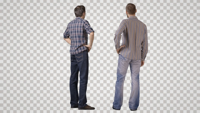 Hd00:28Two Young Men In Casual Standing #1163488 - PNG ...