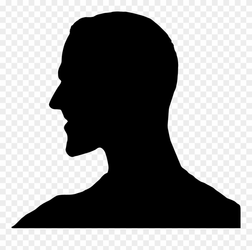 Head Silhouette Png - Head Silhouette Cliparts - Man Head Silhouette - Png Download ...
