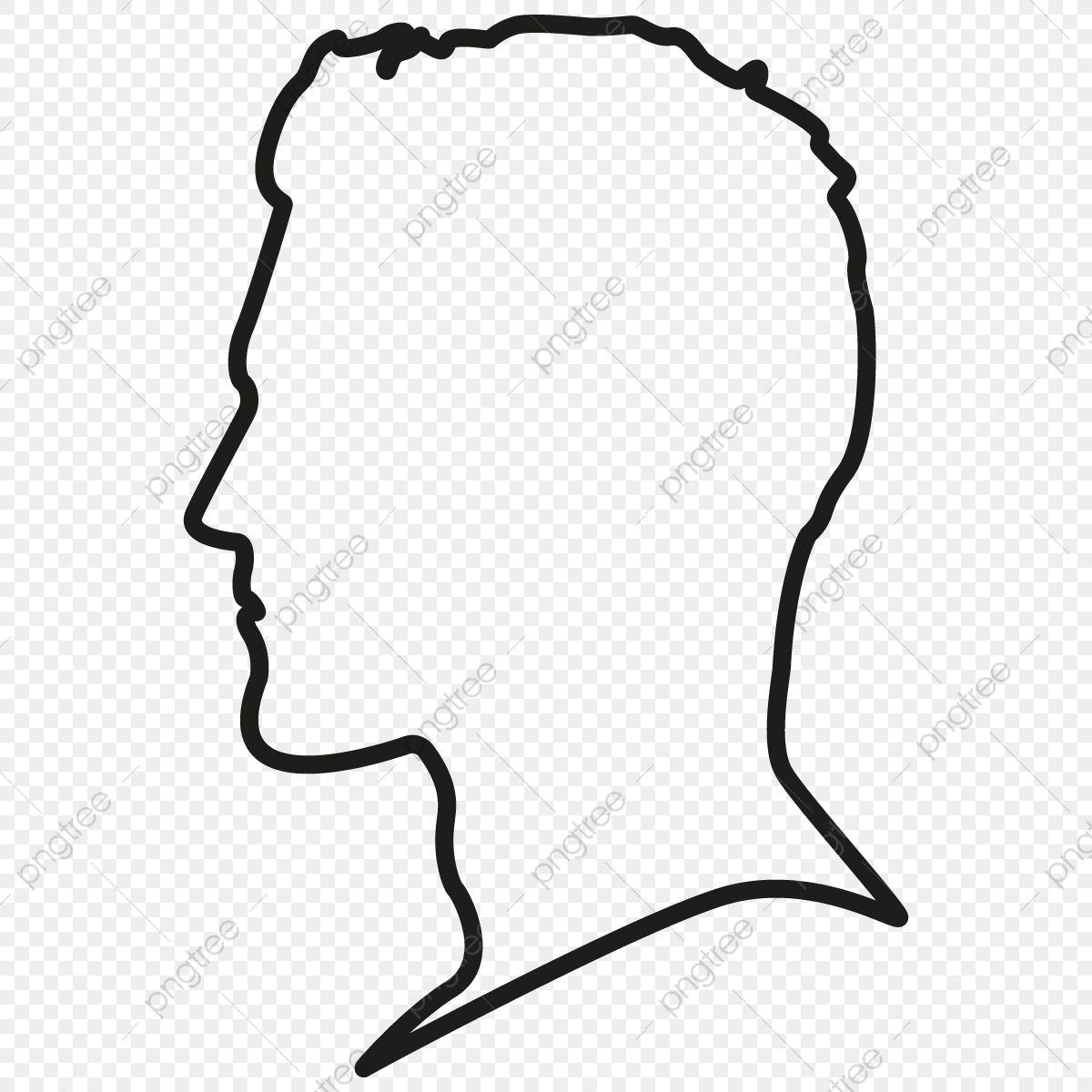 Head Outline Png - Head Silhouette Outline Free, Person Head, Male Silhouette Head ...