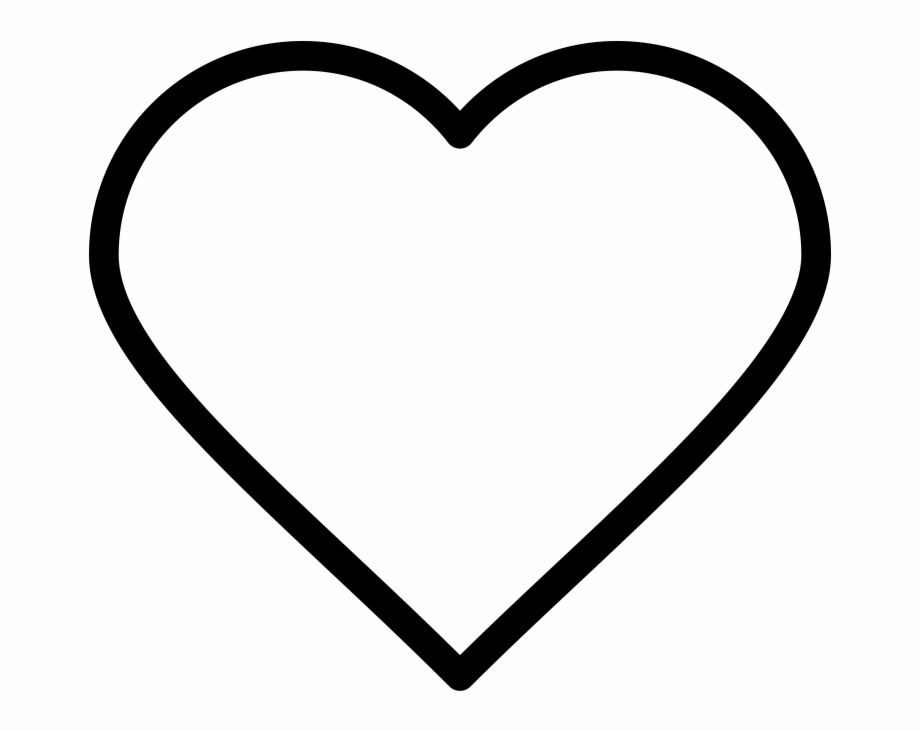 Heart Line Icon Heart Emoji Coloring P 878179 Png Images Pngio
