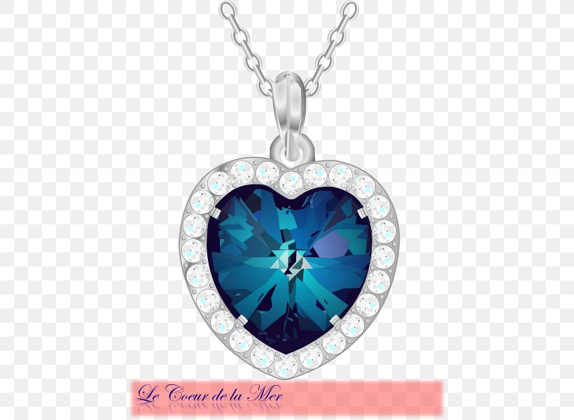 Heart Of The Ocean Png - Heart Of The Ocean Jewellery Necklace Clip Art, PNG, 456x599px ...