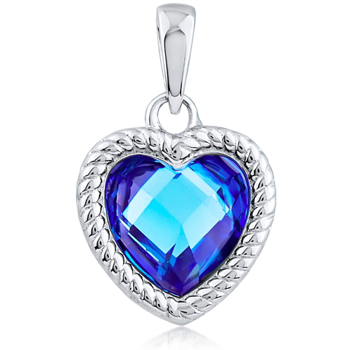"""Heart Of The Ocean Png - Heart of the Ocean"""" Silver Pendant – Silver and Post"""