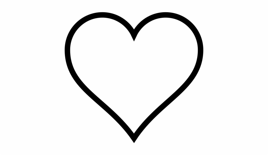 Heart Outline Heart Emoji Coloring Pag 1371050 Png Images Pngio