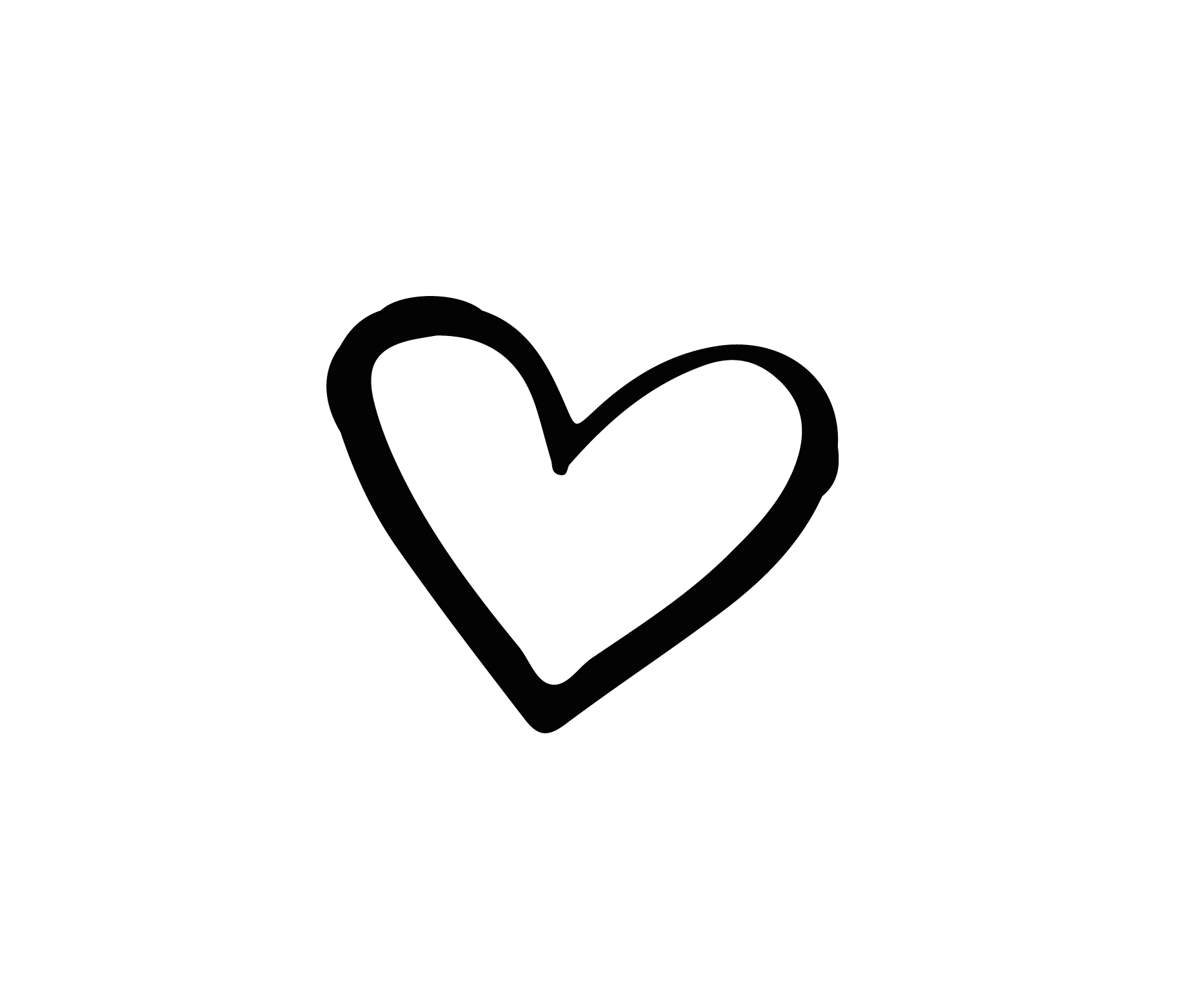 Heart Png Black And White & Free Heart Black And White.png ...