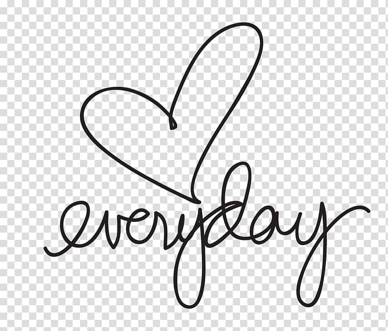 Heart With Everyday Text Love Drawing C 1436422 Png Images Pngio