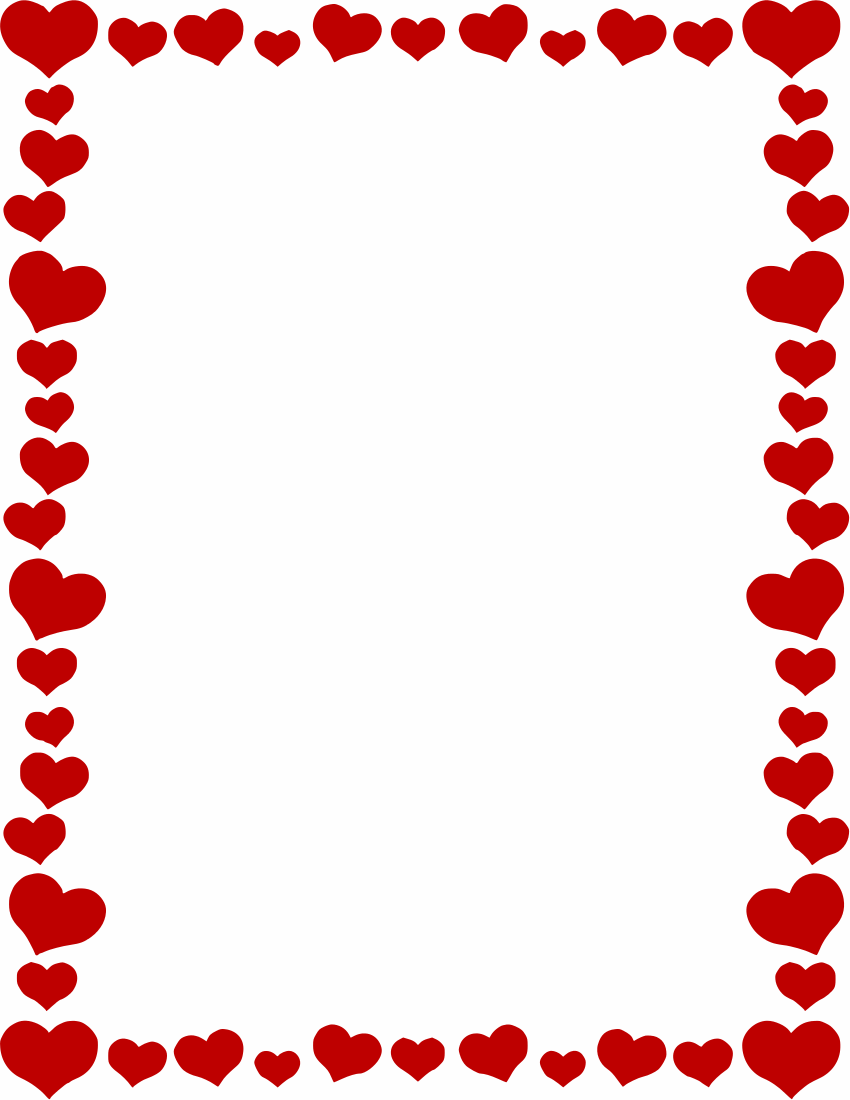 Heart Page Border Png - Hearts Border - /page_frames/holiday/Val #573233 - PNG Images - PNGio