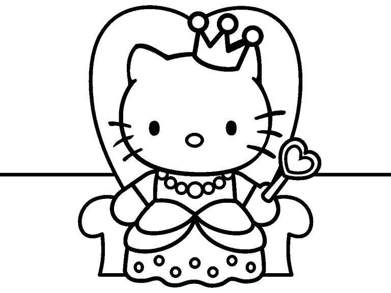 Hello Kitty Princess Coloring Pages Png Free Hello Kitty Princess Coloring Pages Png Transparent Images 141127 Pngio