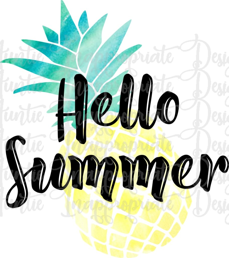 Hello Summer Png - Hello Summer Pineapple Sublimation file, PNG Printable Sublimation ...