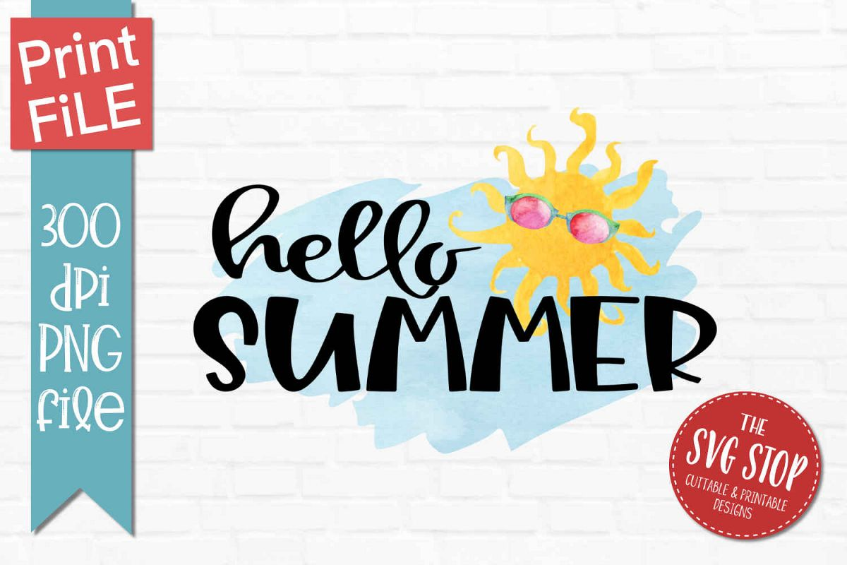 Hello Summer Png - Hello Summer - PNG Sublimation Design