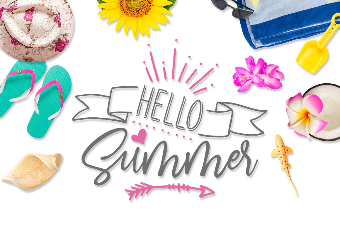 Hello Summer Png - Hello Summer SVG DXF PNG EPS (Graphic) by TheBlackCatPrints ...