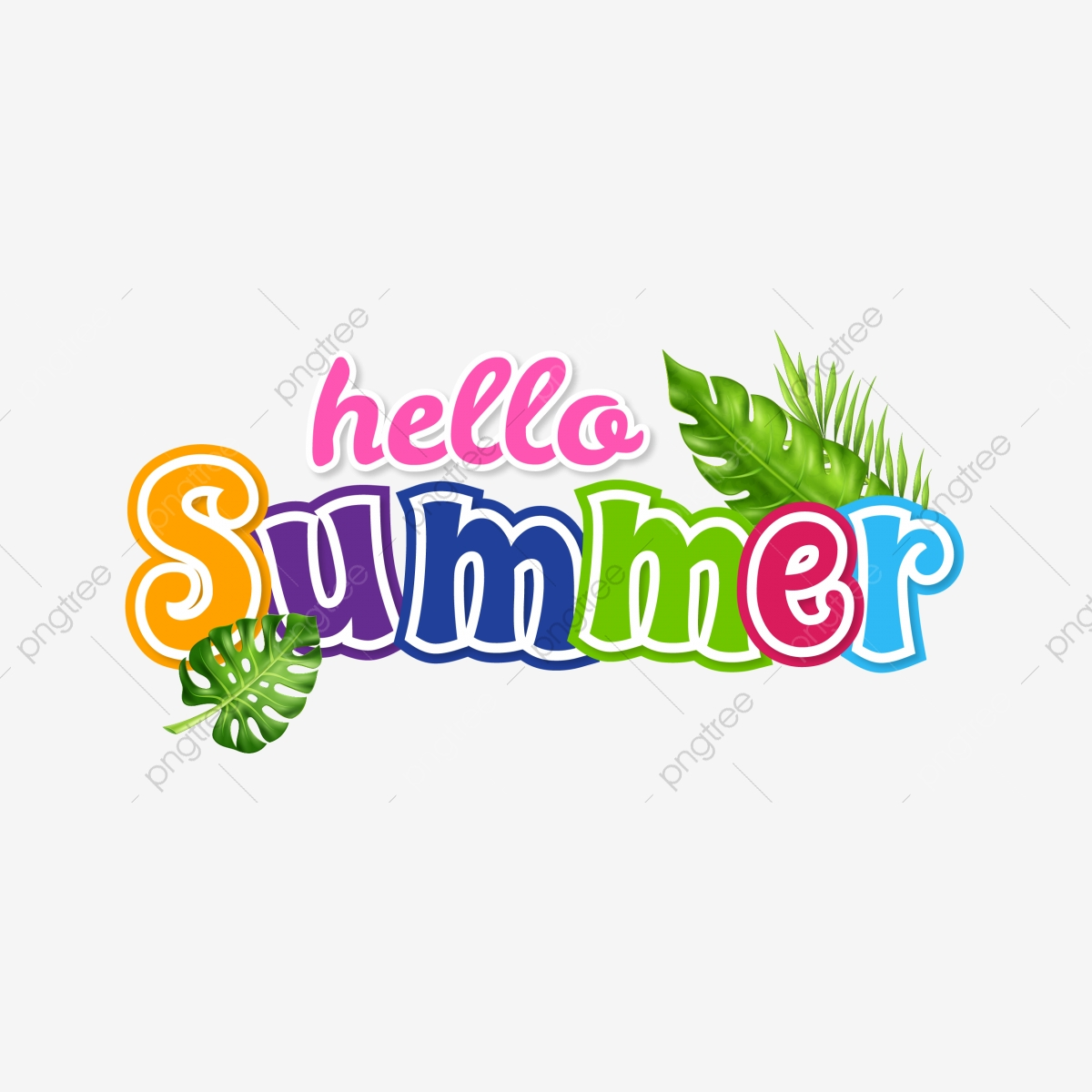 Hello Summer Png - Hello Summer Tropical Flowers Label, Summer, Tropical, Hello PNG ...
