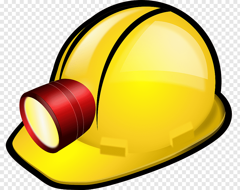 Mining Hat Png - Helmet Mining Hard hat Miners cap, A yellow helmet PNG | PNGWave