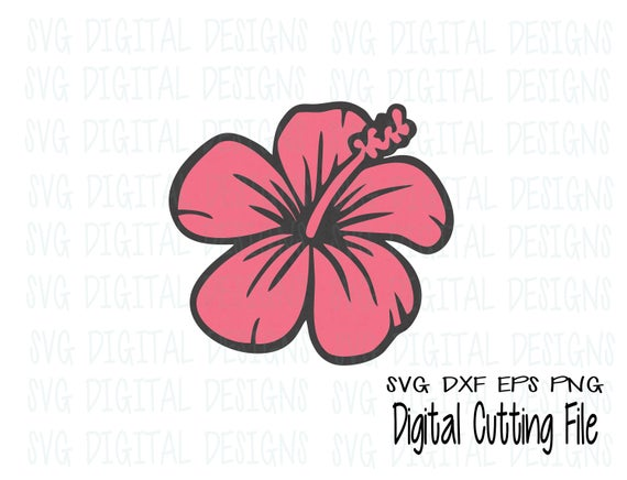 Get Aloha Hawaii Hibiscus Ll185 B Cut-File In Svg Dxf Eps Ai Jpg Png Design