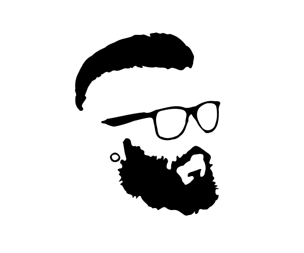 Beard Png - hipster-beard-glasses-silhouette.png (600×500)