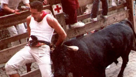 Running Of The Bulls Png - History behind the running of the bulls (2015) - CNN Video