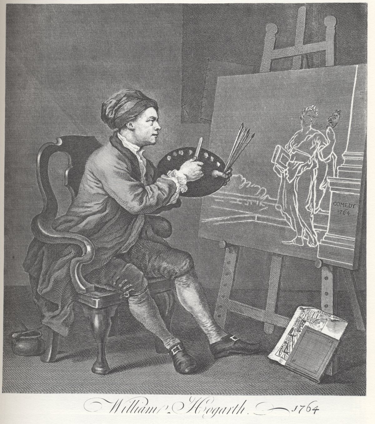 Self Portrait Png - Hogarth Painting the Comic Muse - Wikipedia