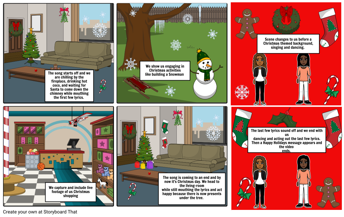 Snowman Scenes Dancing Png - Holiday Project Storyboard by ambergenesis