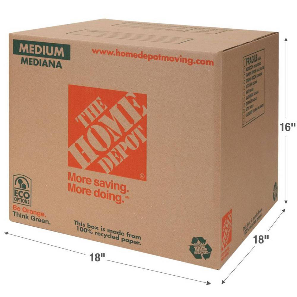 Cardboard Box Home Png - Home Depot Moving and Storage Products: 100% Recycled and Made by ...