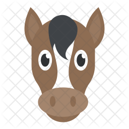 Horse Head Icon Of Flat Style Availabl Png Images Pngio