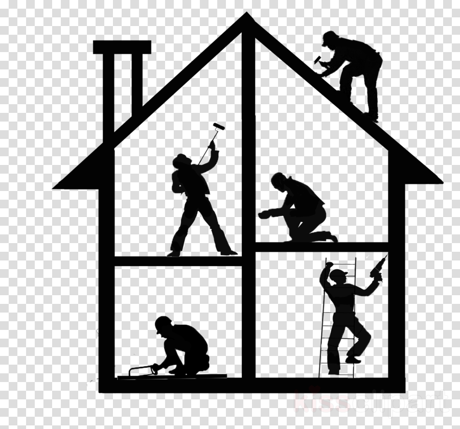 Free Png Renovations - House, Silhouette, Line, transparent png image & clipart free download