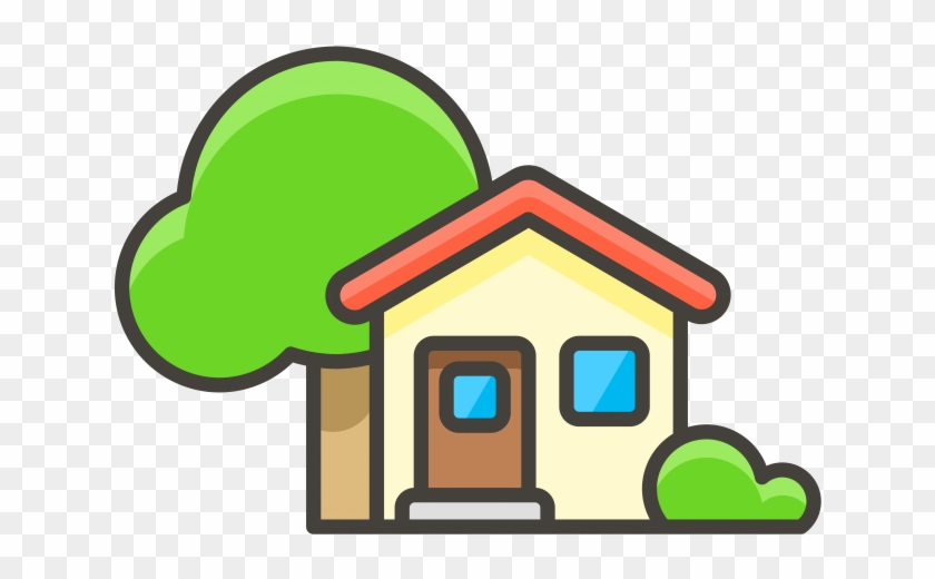House Emoji Transparent - House With Garden Emoji Icon - House Tree Icon Png, Transparent ...