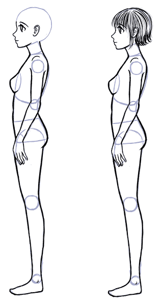 Body Drawing Png Side - How to Draw Anime Side View - Full Body Profile | Anime | Anime ...
