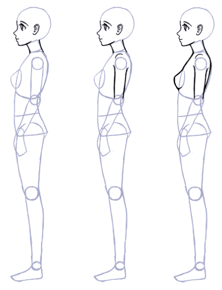 Body Drawing Png Side - How to Draw Anime Side View - Full Body Profile | Art | Anime side ...
