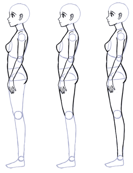 Body Drawing Png Side - How to Draw Anime Side View - Full Body Profile | Art :D | Anime ...