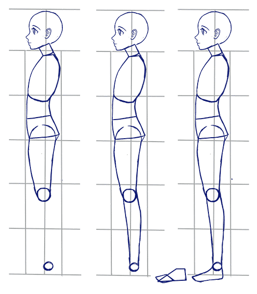 Body Drawing Png Side - How to Draw Anime Side View - Full Body Profile   cool stuff ...